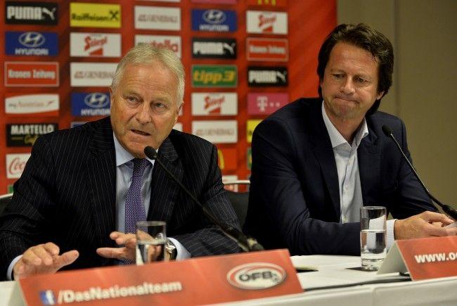 ÖFB-Präsident Leo Windtner (l.) und Sportdirektor Peter Schöttel.
