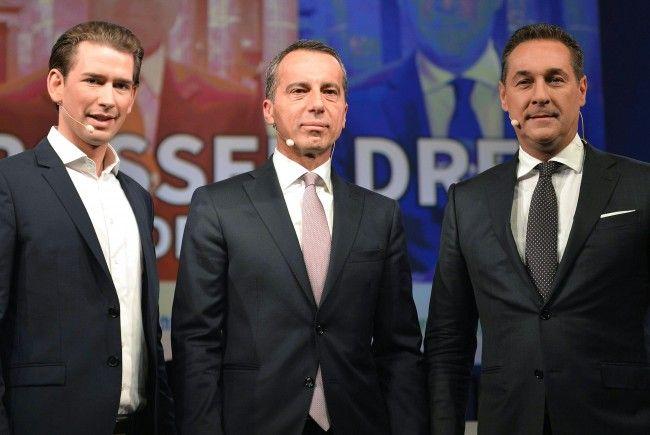 Sonntagsfrage: SPÖ 22%, ÖVP 34%, FPÖ 27%, Grüne 5%, Neos 6%, Liste Pilz 4%.