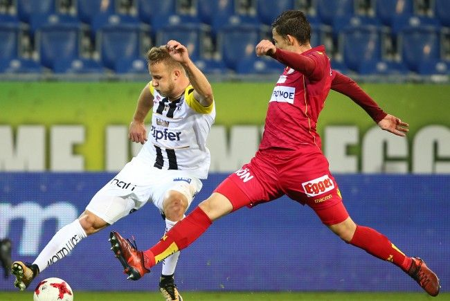 LASK feiert 1:0 Sieg über SKN St. Pölten.
