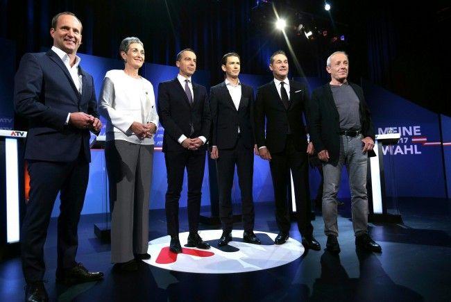 Bei der ATV-Elefantenrunde schenkten sich die Spitzenkandidaten nichts.