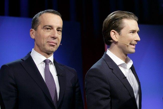 Dicke Luft zwischen Christian Kern (SPÖ) und Sebastian Kurz (ÖVP).