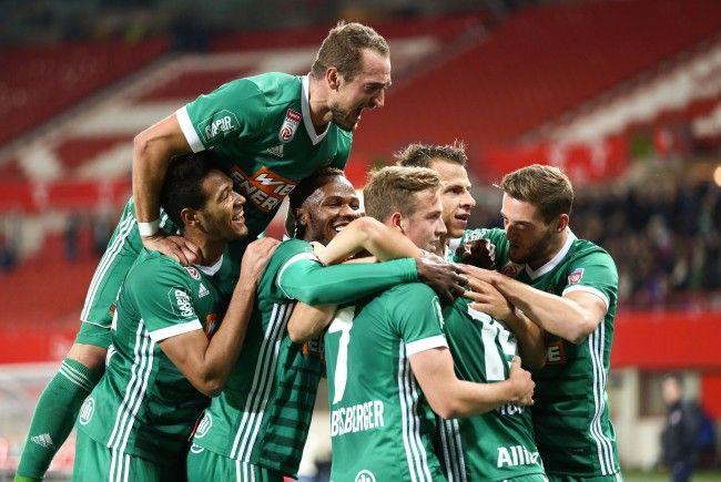 Rapid besiegte die Wiener Austria mit 2:1.