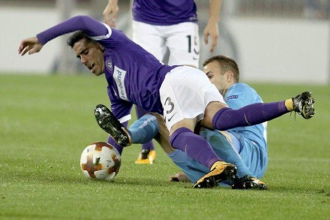 Die Wiener Austria konnte sich nicht gegen Rijeka in der Europa League durchsetzen.
