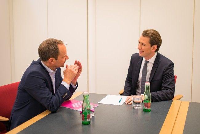 Erstes Sondierungsgespräch von Sebastian Kurz mit NEOS-Chef Matthias Strolz