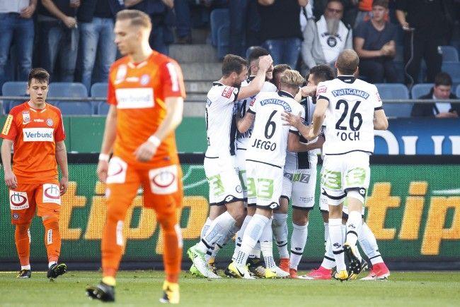 Sturm Graz verteidigt gegen die Austria ihre Tabellenführung