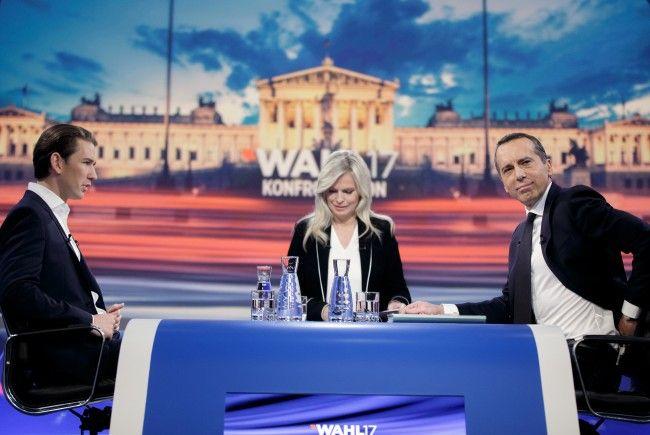 Ein letztes direktes Duell zwischen Kern und Kurz im ORF am Mittwoch