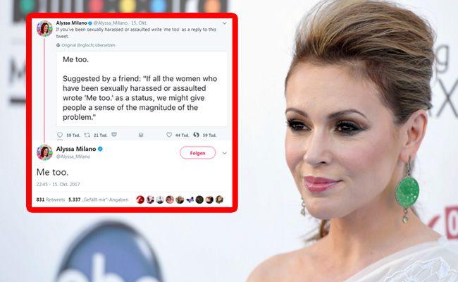 Auch Alyssa Milano wurde sexuell belästigt.