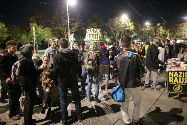 """In Wien wurde zu einer """"präventiven Demo"""" gegen Schwarz-Blau gerufen."""