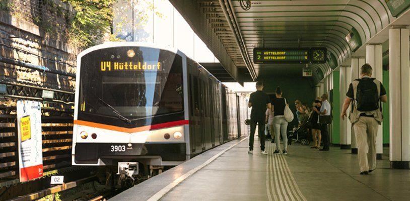 Sanierung der U4-Station Friedensbrücke: Bahnsteig Richtung Hütteldorf gesperrt