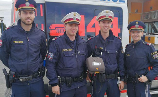 v.l.n.r. Inspektor Patrick E., Revierinspektor Thomas T., Inspektor Johannes P., Inspektorin Bettina E.