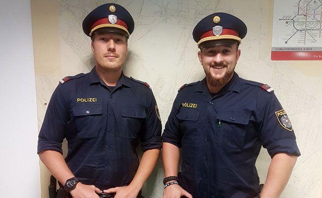 Diese beiden Polizisten wurden zu Lebensrettern
