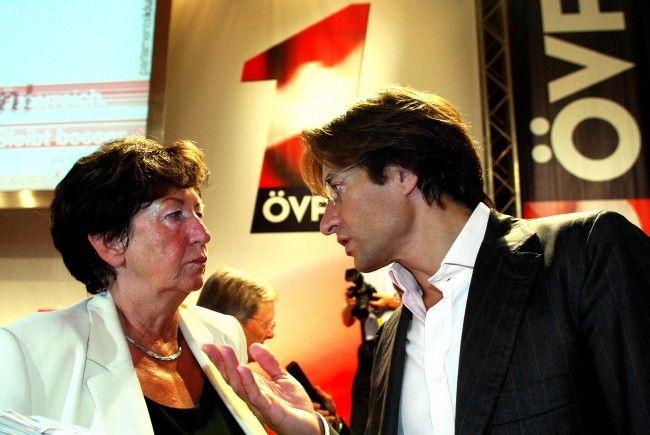 Prokop und Grasser während der ÖVP-Klubklausur 2006