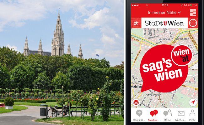 """Die """"Sag's Wien""""-App erfreut sich großer Beliebtheit."""