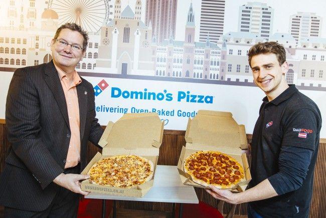 In Wien-Floridsdorf eröffnet die erste Domino's Filiale.