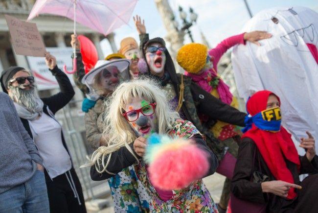 Am Sonntag fand in Wien eine Kundgebung gegen das Verschleierungsverbot statt.