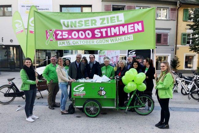 Die Grünen bei der Endspurt-Pressekonferenz zur Nationalratswahl.
