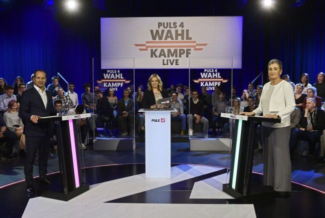 Lunacek und Strolz zeigten sich im Wahl-Duell koalitionsbereit.