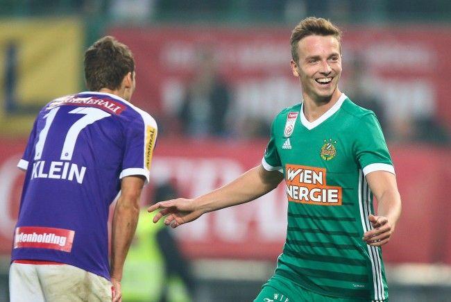 Rapid Wien setzt sich im Wiener Derby mit 1:0 gegen die Austria durch.