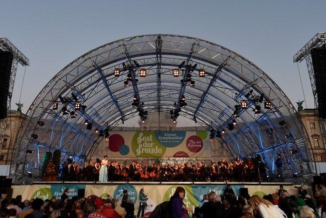 """Die Wiener Symphoniker stecken in finanziellen Schwierigkeiten. Hier bei einem Auftritt am """"Fest der Freude""""."""