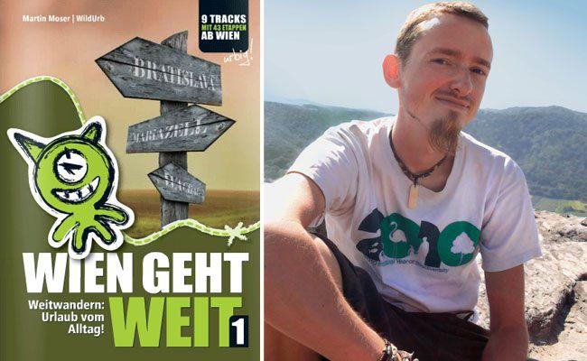"""Martin Moser ist viel unterwegs - wie weit ihn seine Füße schon getragen haben, zeigt """"Wien wandert weit"""""""
