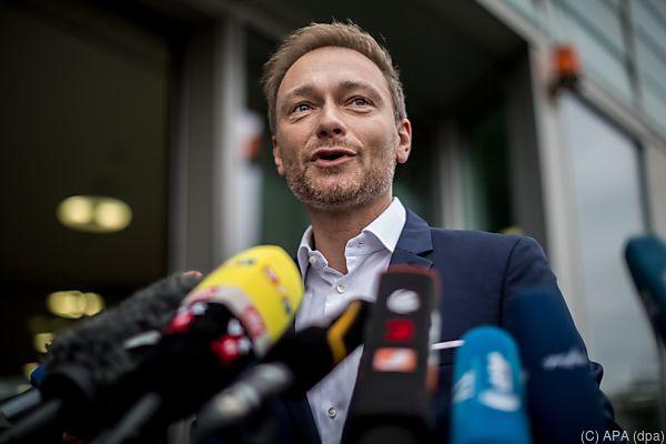 FDP-Bundesvorsitzender Christian Lindner kurz vor den Sondierungen