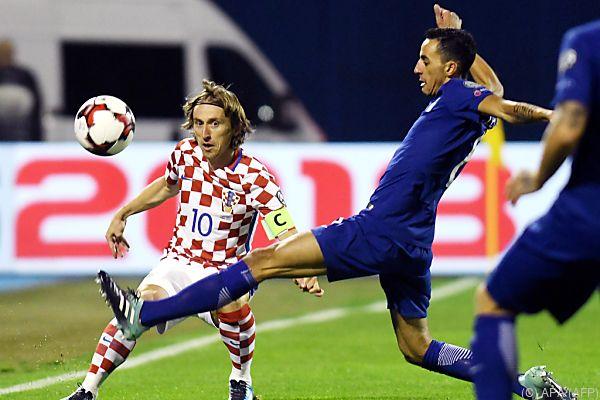 Luka Modric gab den Startschuss für den Torreigen Kroatiens