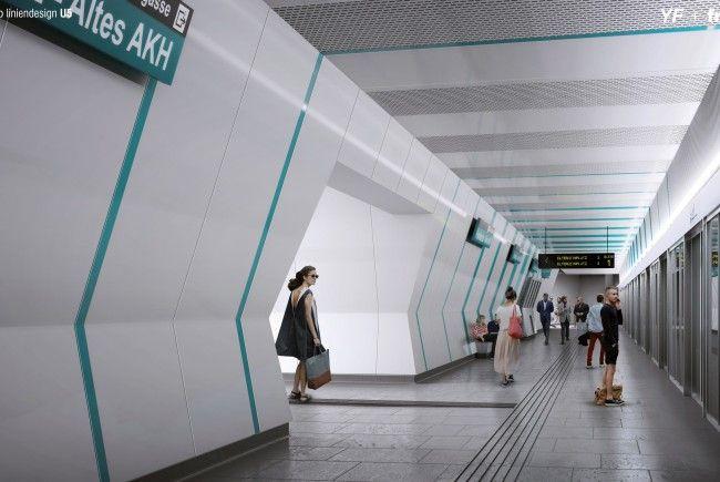 Visualisierung: So sieht laut Plan das künftige Design der neuen U-Bahnlinie U5 aus