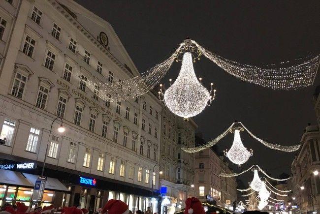 Am Freitag war es soweit: Die Wiener Weihnachtsbeleuchtung wurde feierlich illuminiert