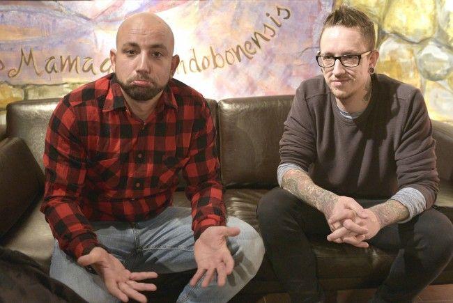 Christoph Seiler (links) mit seinem Bandkollegen Bernhard Speer.