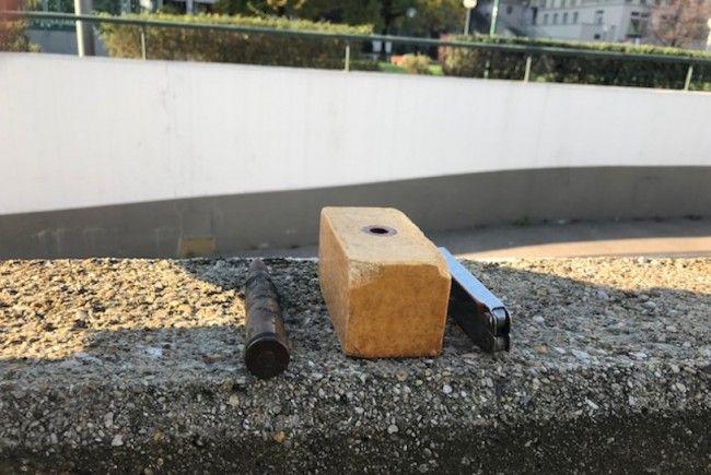 400 Gramm TNT-Sprengstoff wurden bei dem Obdachlosen in der Wiener Innenstadt gefunden.