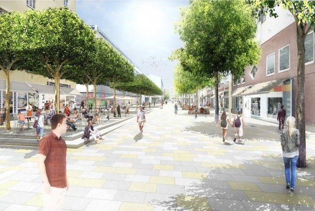 Die neue Fußgängerzone in der Meidlinger Hauptstraße wurde fertiggestellt.