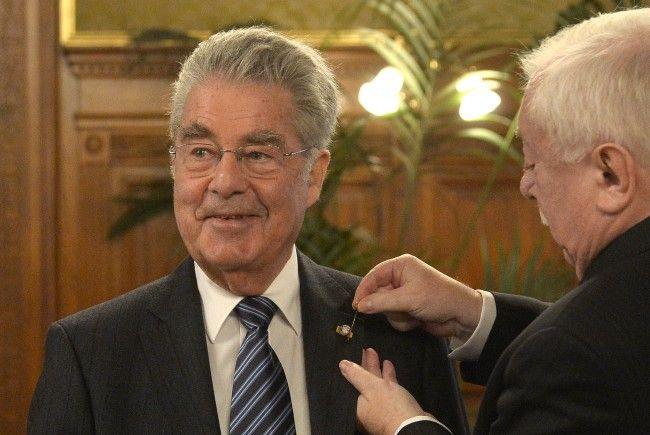 Ex-Bundespräsident Heinz Fischer wurde zum Ehrenbürger der Stadt Wien ernannt.