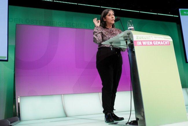 Vizebürgermeisterin Maria Vassilakou bei der Landesversammlung der Wiener Grünen
