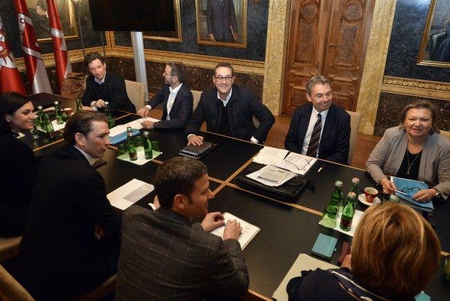 Bei den Koalitionsverhandlungen zwischen ÖVP und FPÖ