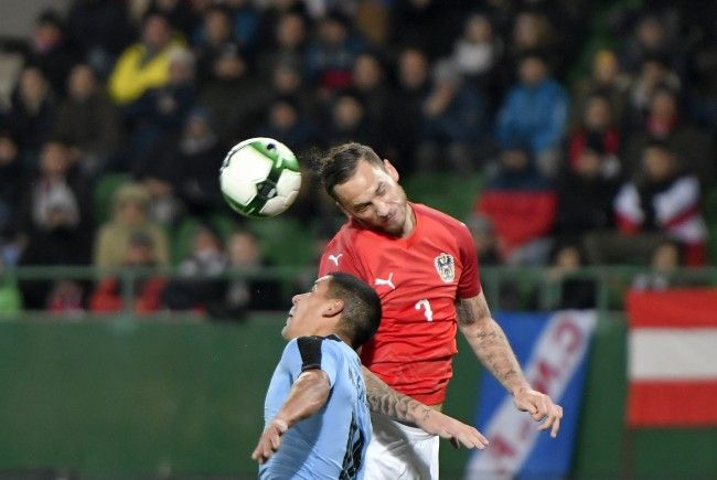 Österreichs Nationalteam feierte zum Abschluss des Länderspieljahrs 2017 einen glücklichen Sieg gegen Uruguay.
