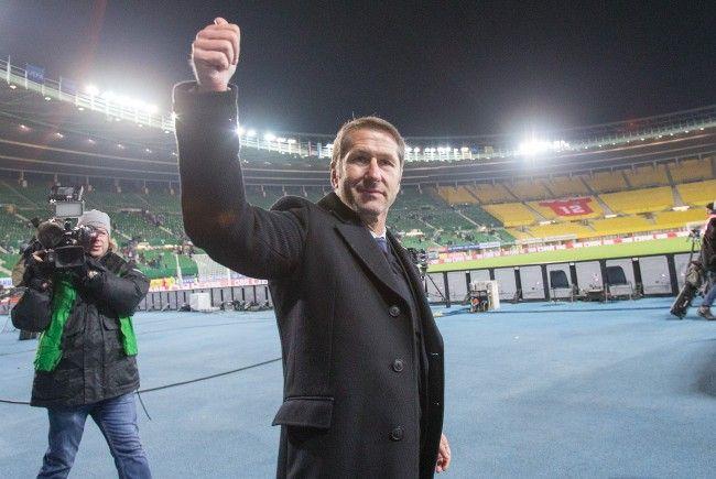 Österreich-Trainer Franco Foda beim Spiel gegen Uruguay im Ernst Happel-Stadion in Wien
