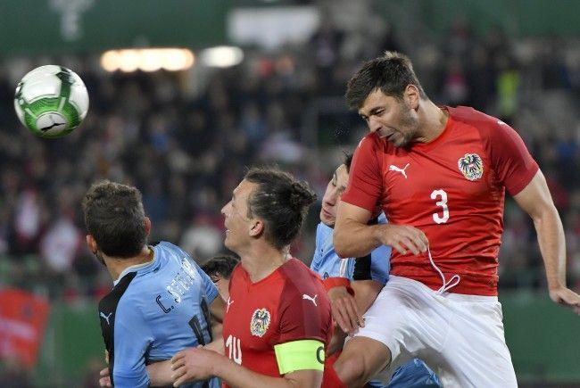 Aleksandar Dragović feierte mit dem ÖFB-Team zum Abschluss des Länderspieljahrs 2017 einen glücklichen 2:1-Sieg über Uruguay.