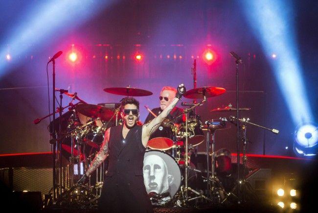 Queen und Adam Lambert traten am Mittwoch in der Wiener Stadthalle auf.