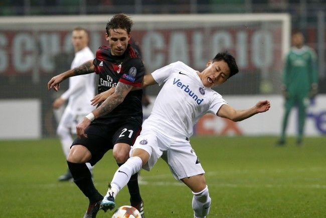 Die Wiener Austria verlor gegen den AC Milan mit 5:1.