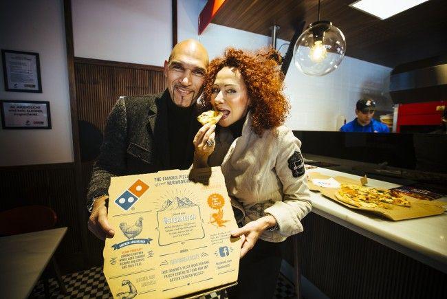 Am Samstag wurde das große VIP-Opening von Domino's Pizza in Wien-Floridsdorf gefeiert.
