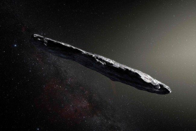 """""""Oumuamua"""" verblüfft nicht nur mit seiner Form."""