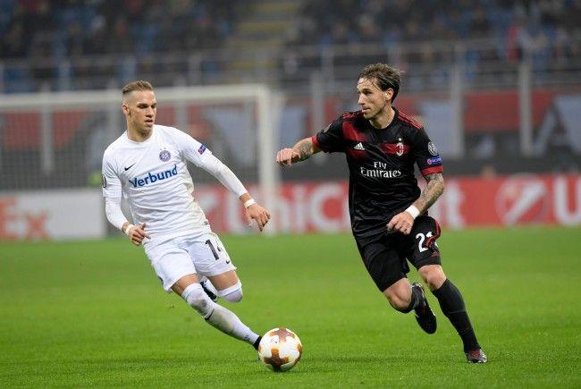 Die Wiener Austria musste sich in der Europa League gegen AC Milan mit 1:5 geschlagen geben.
