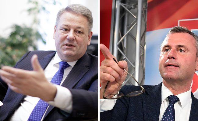 Norbert Hofer und Andrä Rupprechter sind sich uneinig.