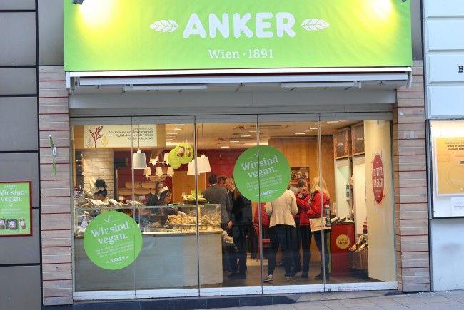 Veganer Pop-Up-Store von Anker auf der Mariahilfer Straße.