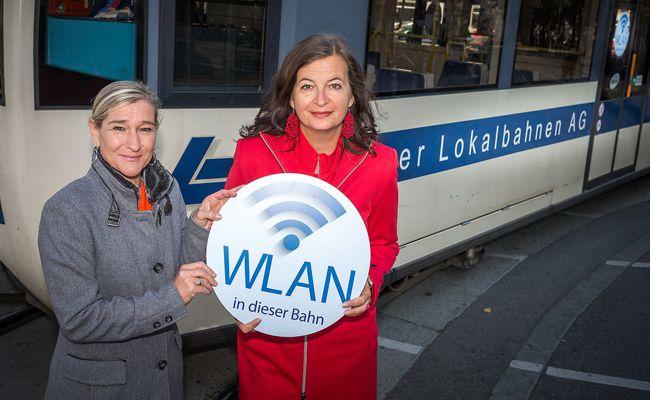 16 Züge der Badner Bahn werden mit Gratis-WLAN ausgestattet.