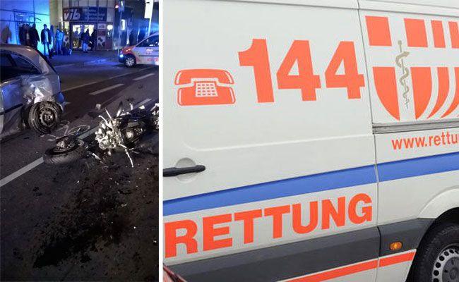 Beim Unfall in Wien-Landstraße