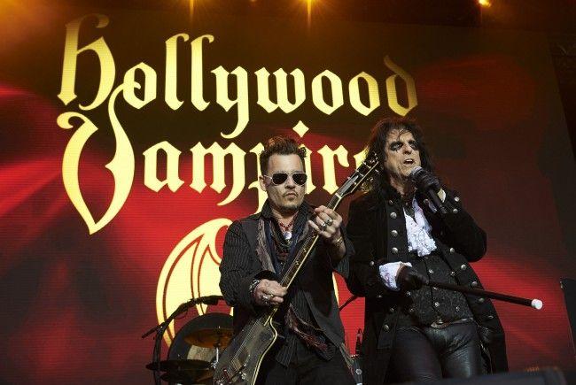 """Johnny Depp und seine """"Hollywood Vampires"""" kommen für ein Konzert nach Österreich."""