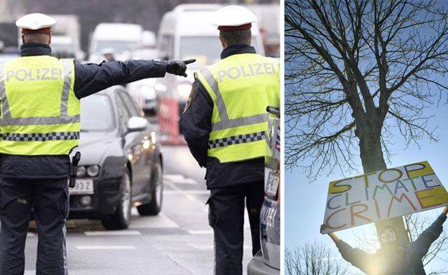 Klimaschützer demonstrieren in Wien - es kommt zu Straßensperren
