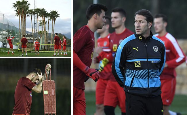 Das ÖFB-Team trainiert in Marbella erstmals unter Franco Foda.