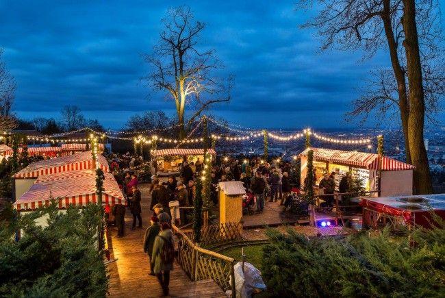 Beim Weihnachtszauber am Wilhelminenberg